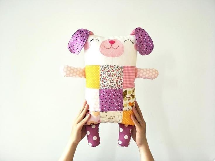 Patchwork Stuffed Animal Dog Toy
