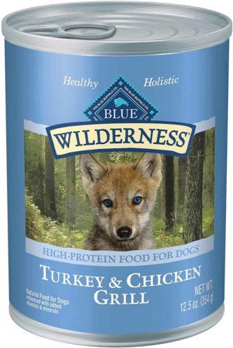 Blue Buffalo Wilderness Turkey & Chicken Grill Grain-Free Puppy Canned Dog Food