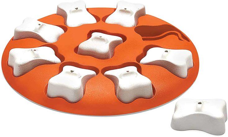 Nina Ottosson by Outward Hound Dog Smart Orange Interactive Treat Puzzle Dog Toy