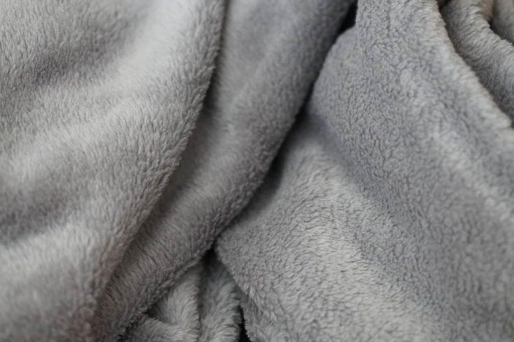 Fluffy gray blanket