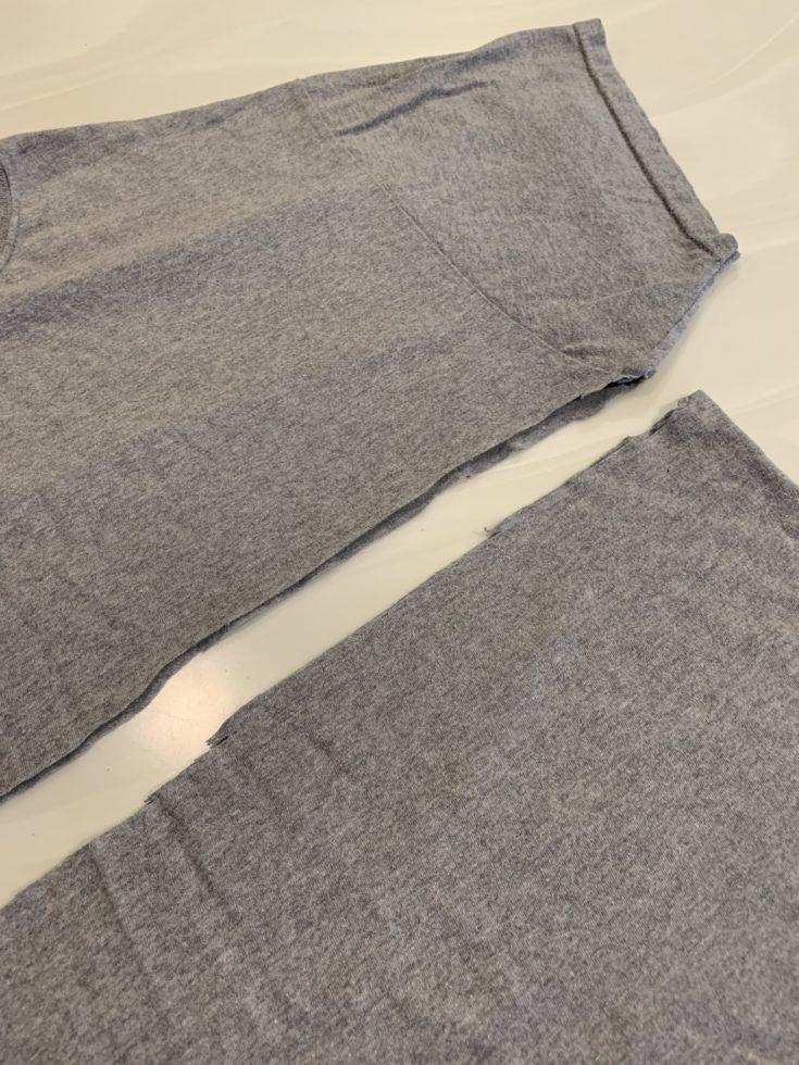 Cut gray shirt