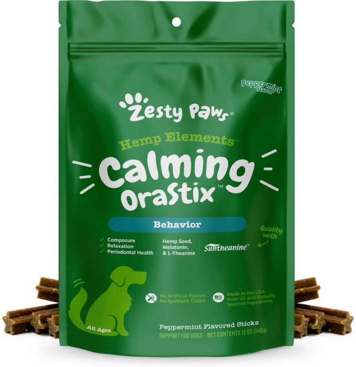Zesty Paws Hemp Elements Calming Peppermint Flavored Chews