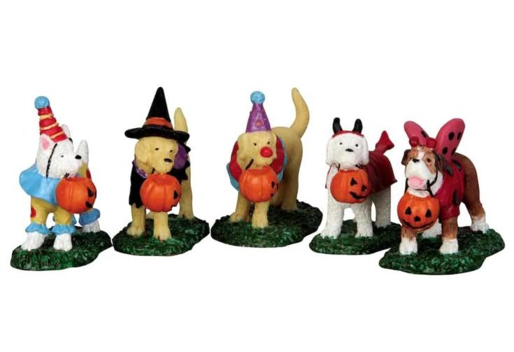 Lemax Spooky Town Trick or Treating Dogs Set