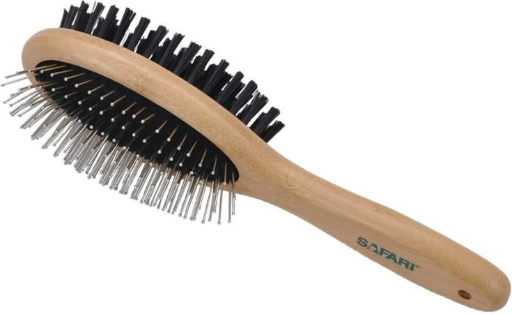 Safari Bamboo Pin & Bristle Combo Dog Brush